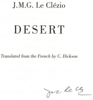 Desert - 1st UK Edition/1st Printing