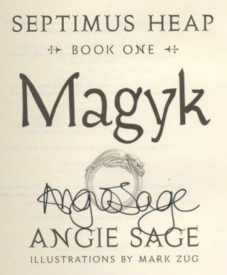 Magyk: Septimus Heap: Book One - 1st Edition/1st Printing