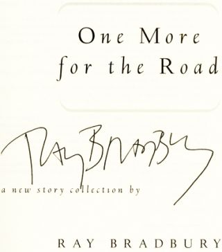 One More For The Road - 1st Edition/1st Printing
