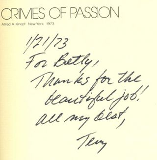 Crimes Of Passion - 1st Edition/1st Printing