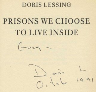 Prisons We Choose To Live Inside - 1st Edition/1st Printing