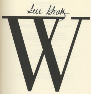 W Is For Wasted - 1st Edition/1st Printing