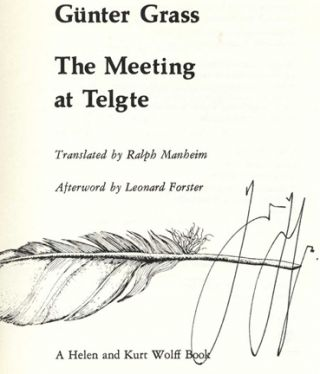 The Meeting At Telgte - 1st US Edition/1st Printing