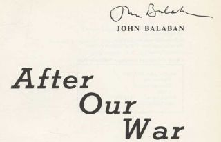 After Our War - 1st Edition/1st Printing