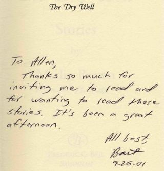 The Dry Well - 1st Edition/1st Printing