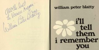 I'll Tell Them I Remember You - 1st Edition/1st Printing