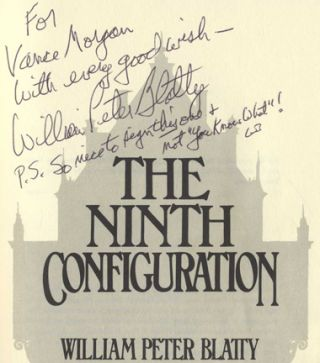 The Ninth Configuration - 1st Edition/1st Printing