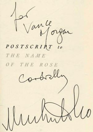 Postscript to The Name Of The Rose - 1st US Edition/1st Printing