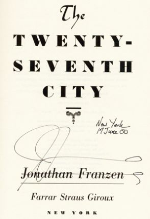 The Twenty-Seventh City - 1st Edition/1st Printing