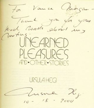 Unearned Pleasures - 1st Edition/1st Printing