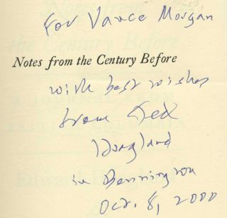 Notes From the Century Before - 1st Edition/1st Printing