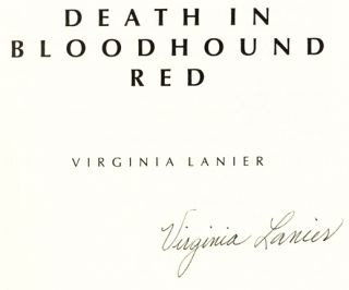 Death in Bloodhound Red - 1st Edition/1st Printing