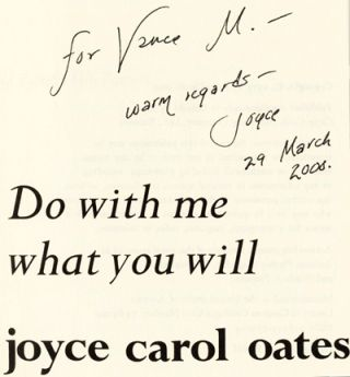 Do With Me What You Will - 1st Edition/1st Printing