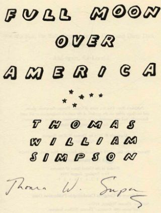 Full Moon Over America - 1st Edition/1st Printing