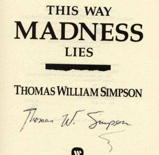 This Way Madness Lies - 1st Edition/1st Printing