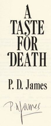 A Taste For Death - 1st Edition/1st Printing