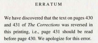 The Corrections - 1st Edition/1st Printing