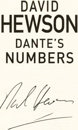 Dante's Numbers - 1st Edition/1st Impression