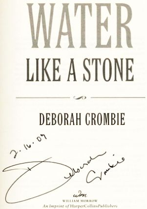 Water Like A Stone - 1st Edition/1st Printing