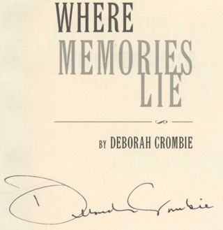 Where Memories Lie - 1st Edition/1st Printing
