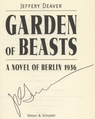 Garden Of Beasts: A Novel Of Berlin 1936 - 1st Edition/1st Printing