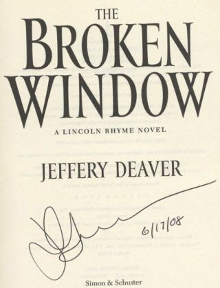 The Broken Window - 1st Edition/1st Printing