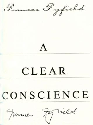 A Clear Conscience - 1st US Edition/1st Printing