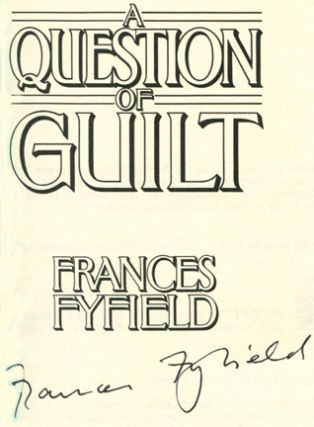 A Question of Guilt -1st US Edition/1st Printing