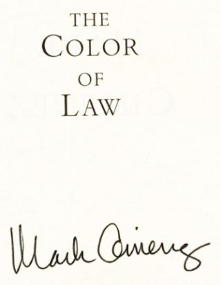 The Color of Law - 1st Edition/1st Printing