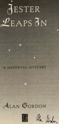 Jester Leaps In: A Medieval Mystery - 1st Edition/1st Printing