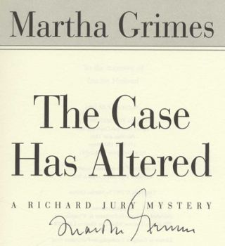 The Case Has Altered - 1st Edition/1st Printing