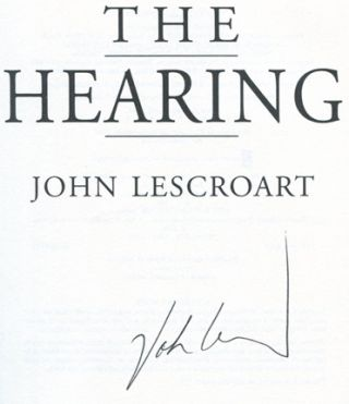 The Hearing -1st Edition/1st Printing