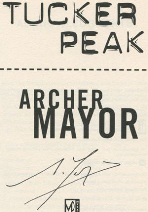 Tucker Peak - 1st Edition/1st Printing