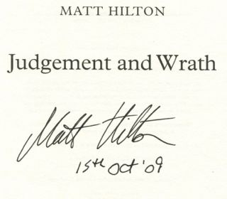 Judgement And Wrath - 1st Edition/1st Printing