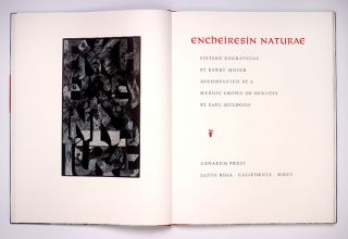 Encheiresin Naturae; Barry Moser / Fifteen Abstract Engravings; Paul Muldoon / One Heroic Crown Of Sonnets