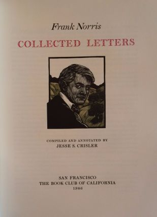 Frank Norris Collected Letters