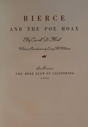 Bierce And The Poe Hoax