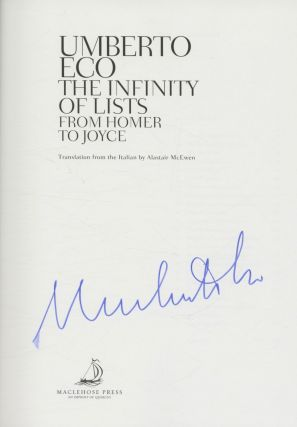 The Infinity of Lists - 1st Edition/1st Printing