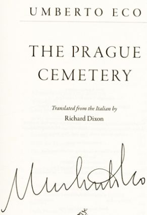 The Prague Cemetery - 1st US Edition/1st Printing