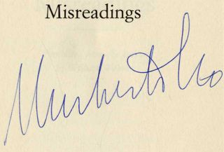 Misreadings - 1st US Edition/1st Printing. Umberto Eco