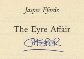 The Eyre Affair - 1st Edition/1st Printing
