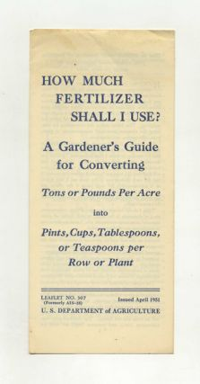 How Much Fertilizer Shall I Use?