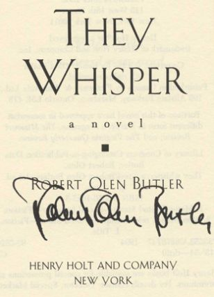 They Whisper - 1st Edition/1st Printing