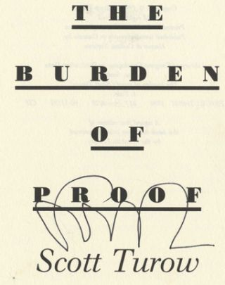 The Burden of Proof -1st Edition/1st Printing