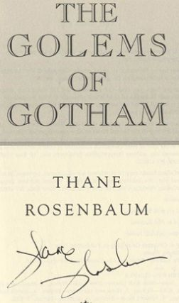 The Golems of Gotham - 1st Edition/1st Printing