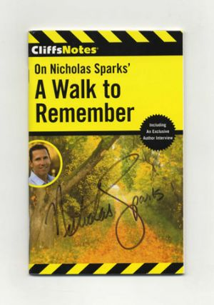 On Nicholas Sparks' A Walk to Remember - 1st Edition/1st Printing