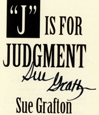 """""""J"""" is for Judgment - 1st Edition/1st Printing"""