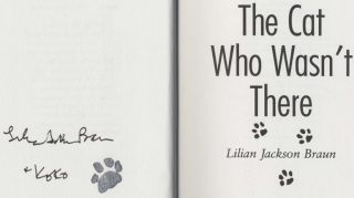 The Cat Who Wasn't There - 1st Edition/1st Printing