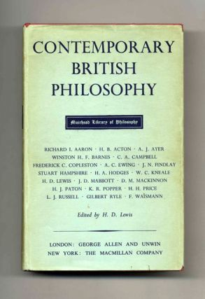 Contemporary British Philosophy - 1st Edition/1st Printing