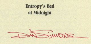 Entropy's Bed At Midnight - 1st Edition/1st Printing
